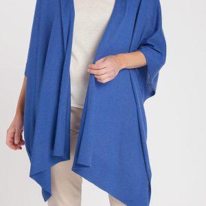 capa-mujer-cashmere ultrafino-color azul añil-delante-again cashmere