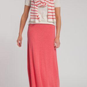 falda-mujer-cashmere ultrafino-color fresa-delante-again cashmere