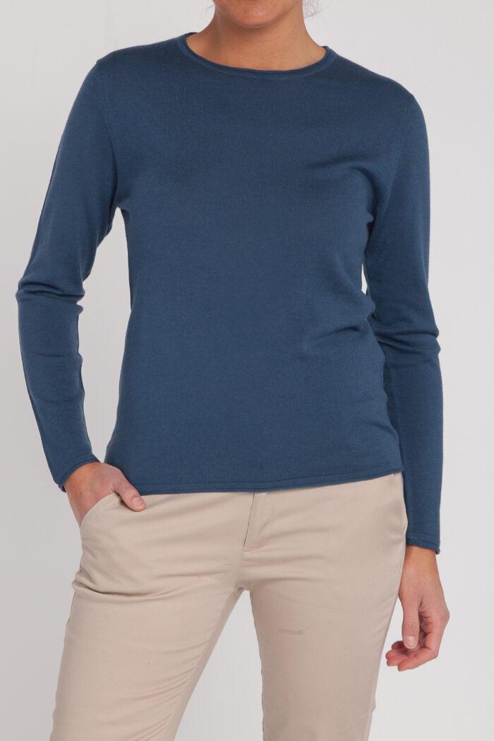 jersey caja-mujer-cashmere ultrafino-color azul navy-delante-again cashmere