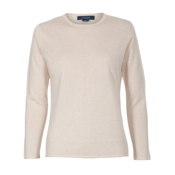 jersey caja-mujer-cashmere ultrafino-color blanco-again cashmere