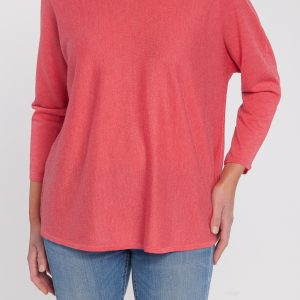 jersey caja pico-mujer-cashmere ultrafino-color rosa-detalle-again cashmere