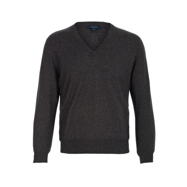 jersey pico-hombre-cashmere ultrafino-color gris marengo-again cashmere