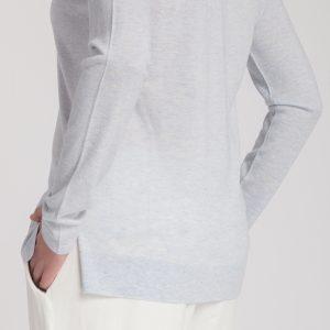 jersey pico new classic-pico-mujer-cashmere ultrafino-color azul claro-detalle-again cashmere