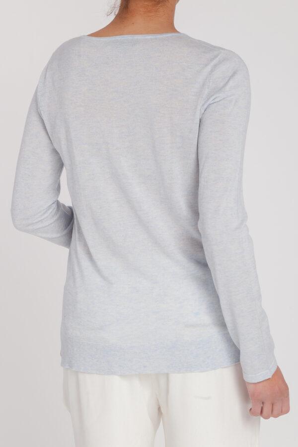 jersey pico new classic-pico-mujer-cashmere ultrafino-color azul claro-detras-again cashmere