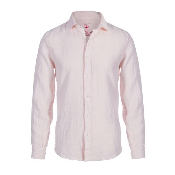 camisa lino- hombre-color rosa palido-again cashmere