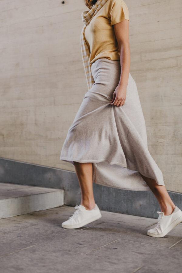 falda de cashmere